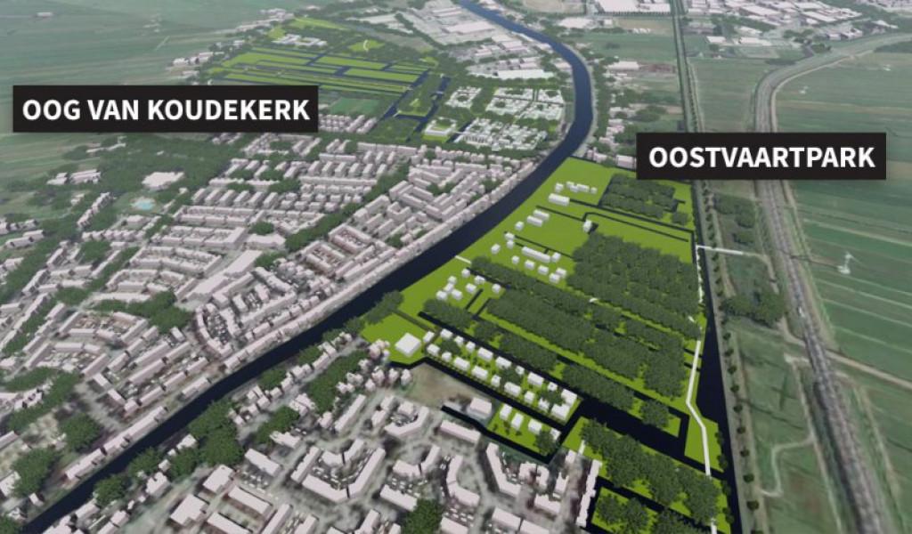 Gemeenteraad akkoord met woningbouw Oostvaartpark en Oog van Koudekerk