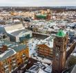 Alphen op z'n mooist: winterse dronefoto's van de omgeving