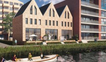 Grote eengezinswoningen iconen voor de Rijnhaven